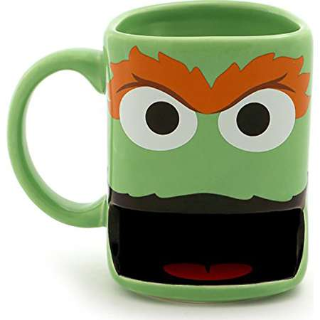 Sesame Street 10oz Stoneware Mug with Cookie Slot, Oscar the Grouch thumb