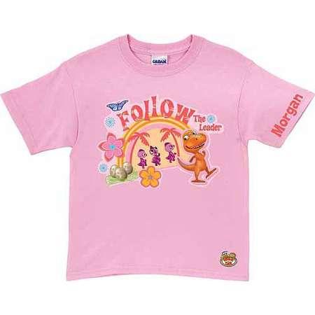 8e31c0da4b1 Personalized Dinosaur Train Buddy the Leader Girls  T-Shirt, Pink thumb