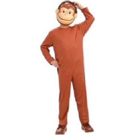 Curious George Child Costume And Mask Monkey Book Movie TV Show Cartoon thumb