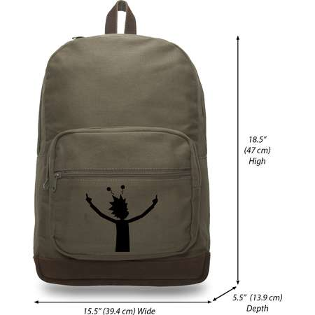 Alien Rick Canvas Teardrop Backpack with Leather Bottom Accents thumb