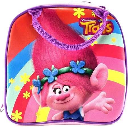 New Dreamworks Trolls Poppy Lunch Bag Plus Water Bottle- Pink thumb