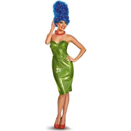 Adult Glam Simpsons Marge Deluxe Costume by Disguise 55272, 18 to 20 thumb