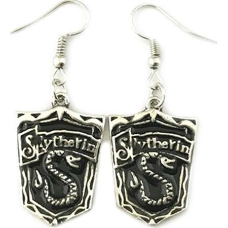 Series Harry Potter Slytherin House Crest Dangle Earrings thumb