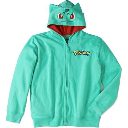 Pokemon Boys' Bulbasaur Costume Graphic Hoodie With 3D Ears thumb