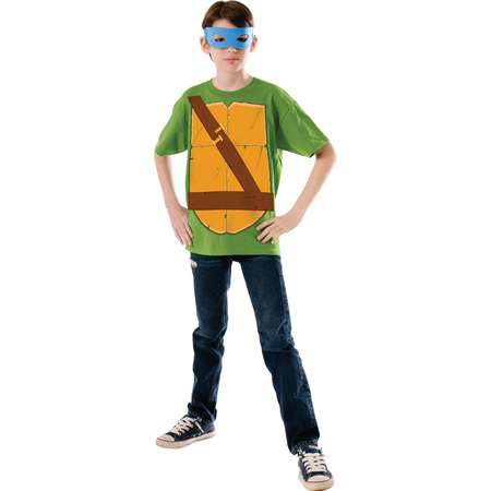 Childs Teenage Mutant Ninja Turtles Leonardo Eye Mask Costume Shirt thumb