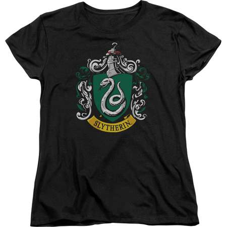 Harry Potter Slytherin Crest Womens Short Sleeve Shirt thumb