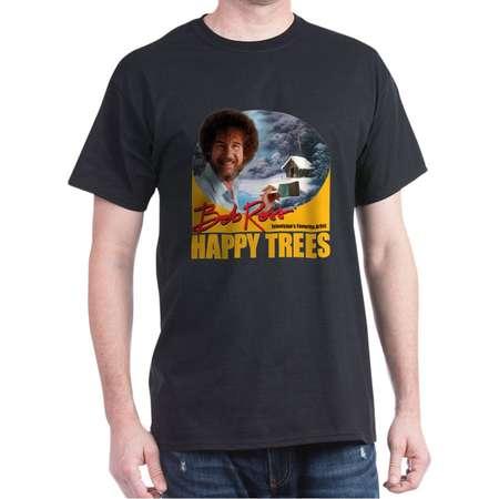 CafePress - Bob Ross Dark T Shirt - 100% Cotton T-Shirt thumb