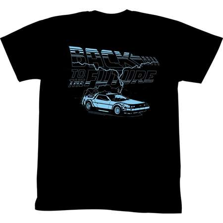 Back to the Future Save the Clock Tower Coal Black Adult T-shirt thumb