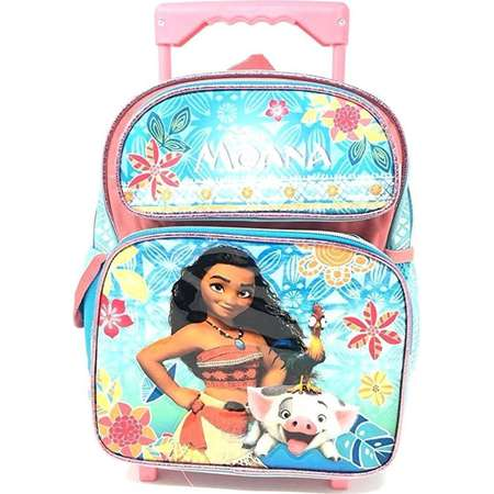 Disney Moana 12in Small Rolling/Roller Girls backpack thumb
