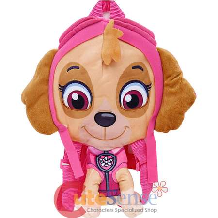 "Paw Patrol Skye Plush Doll Backpack 14"" Flat Plush Girls Costume Bag thumb"