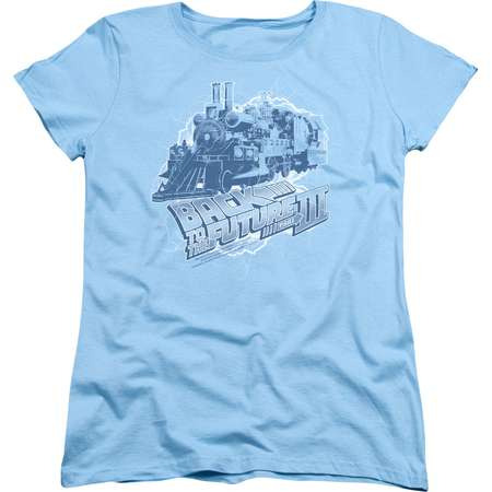 Back To The Future III Science Fiction Movie Time Train Women's T-Shirt Tee thumb
