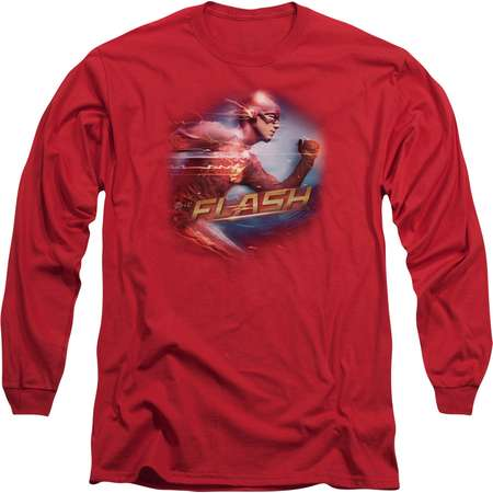 The Flash Fastest Man Mens Long Sleeve Shirt thumb
