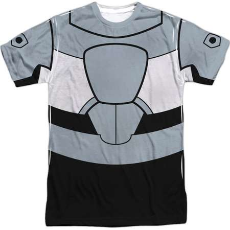 Teen Titans Go! Animated DC TV Series Cyborg Uniform Adult Front Print T-Shirt thumb