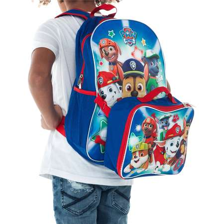 Boys Paw Patrol Large Backpack with Detachable Lunch bag thumb