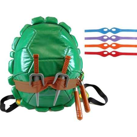 Teenage Mutant Ninja Turtles Shell Backpack W/Masks & Accessories thumb