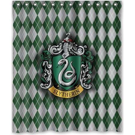 DEYOU Harry Potter Hogwarts Slytherin Logo Shower Curtain Polyester Fabric Bathroom Shower Curtain Size 60x72 inches thumb