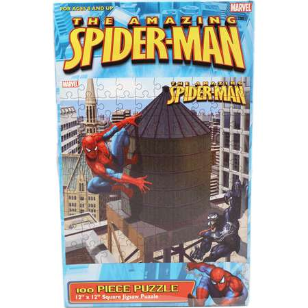 The Amazing Spider-Man Venom and Spidey Water Tower Jigsaw Puzzle (100pc) thumb