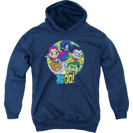 Teen Titans Go Go Go Group Big Boys Youth Pullover Hoodie thumb