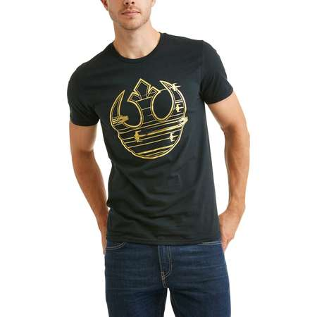 Star wars Men's gold rebel logo graphic tee thumb