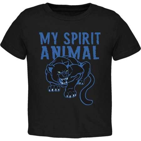 My Spirit Animal Black Panther Toddler T Shirt thumb