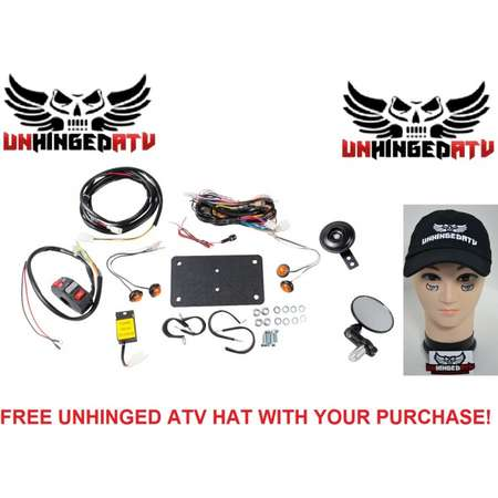 Tusk ATV Horn & Signal Kit with Recessed Signals and Free Unhinged ATV Hat – Fits: Can-Am Outlander 400 H.O. XT 2008 thumb