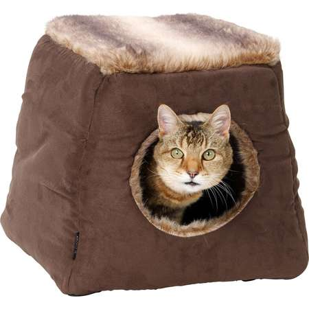 House of Paws Coco Faux Arctic Suede 2 in 1 Cat Bed thumb