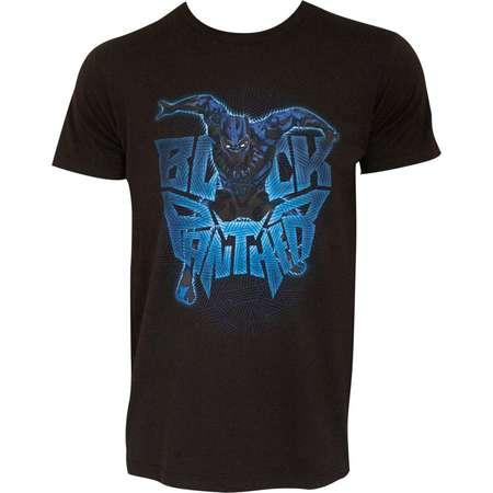 Black Panther Movie Attack Logo Marvel Black Adult T Shirt thumb