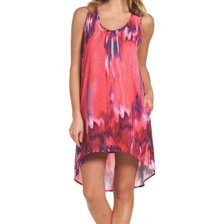 Felicity & Coco NEW Pink Womens Size Large PL Petite Printed Shift Dress thumb