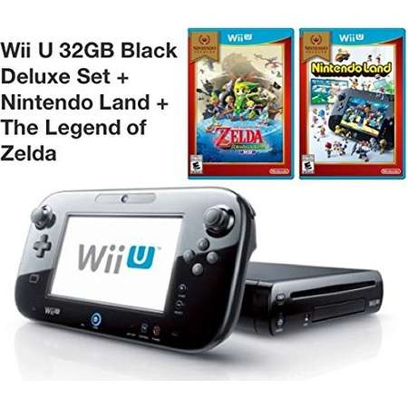 Refurbished Wii U 32GB Deluxe Console With Gamepad Nintendo Land The Legend Of Zelda: The Wind Waker thumb