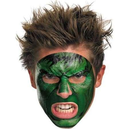 Incredible Hulk Face Tatoo Costume Accessory thumb