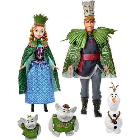 Disney Frozen Troll Wedding Set with Anna, Kristoff, Olaf & 2 Trolls thumb