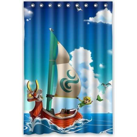 DEYOU The Legend Of Zelda The Wind Waker Ship Shower Curtain Polyester Fabric Bathroom Shower Curtain Size 48x72 inches thumb