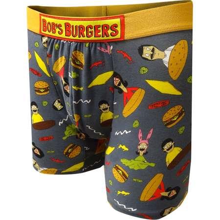 Men's Bob's Burgers Character Toss Boxer Briefs - S thumb