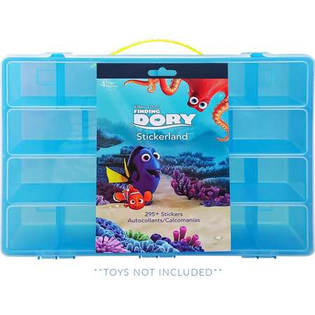 Disney Finding Dory Sticker Book + Case, Toy Storage Carrying Box. Figures Playset Organizer. Accessories For Kids by LMB thumb