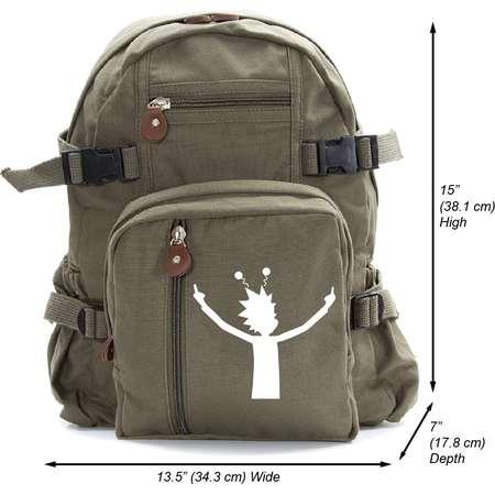 Alien Rick Heavyweight Canvas Backpack Bag thumb