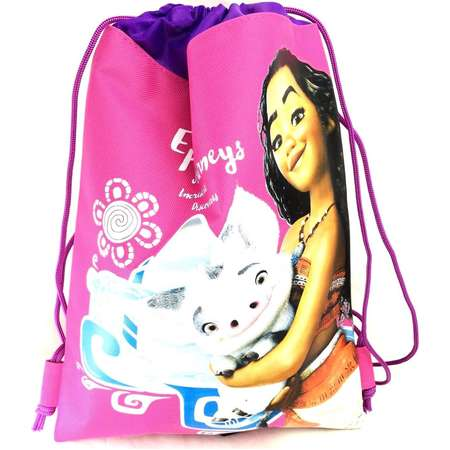 Party Favors Disney Moana Wallet-Passport Bag- String Sling Tote Bag Backpack (SLING BAG PINK)… thumb