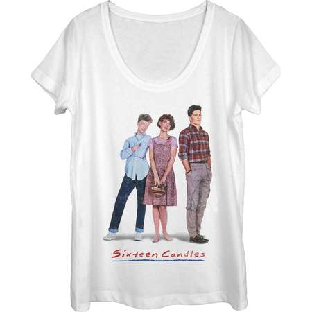 Sixteen Candles Women's Classic Movie Poster Scoop Neck T-Shirt thumb