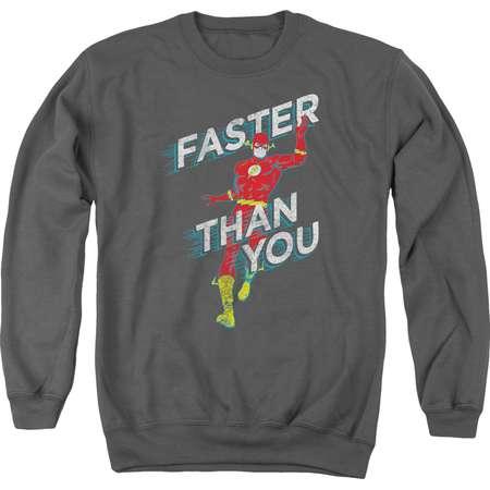 The Flash DC Comics Superhero Faster Than You Adult Crewneck Sweatshirt thumb