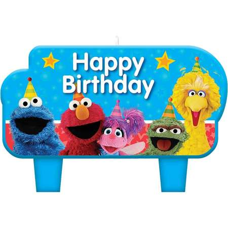 Sesame Street 2 Birthday Candle Set thumb
