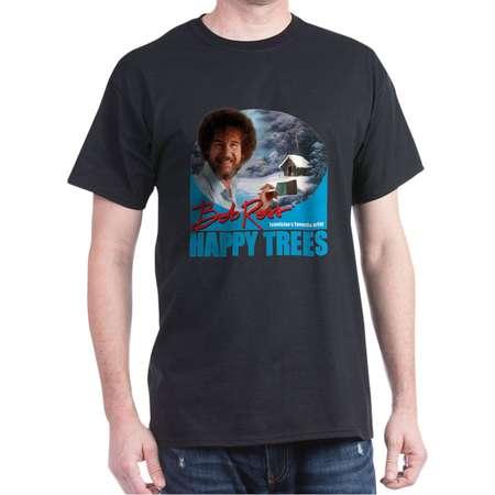 CafePress - Bob Ross Happy Trees! T-Shirt - 100% Cotton T-Shirt thumb