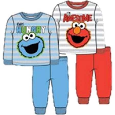 Sesame Street Toddler Pajamas, 2 pk 4 pc Set Elmo & Cookie Monster (3t) thumb