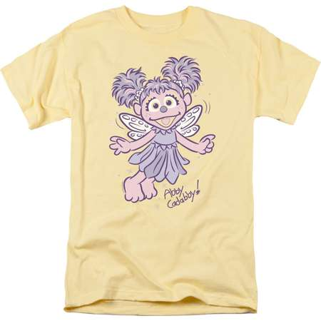 Sesame Street Classic Children's TV Show Abby Cadabby! Adult T-Shirt Tee thumb