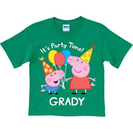 442a5dde9 Personalized Peppa Pig Peppa and George Birthday Green Boys' T-Shirt thumb