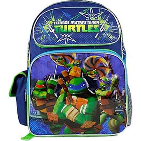 "Backpack - Teenage Mutant Ninja Turtles - Blue 16"" Large School Bag New 654733 thumb"