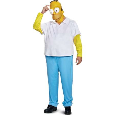 The Simpsons Homer Men's Adult Halloween Costume, One Size, (42-46) thumb