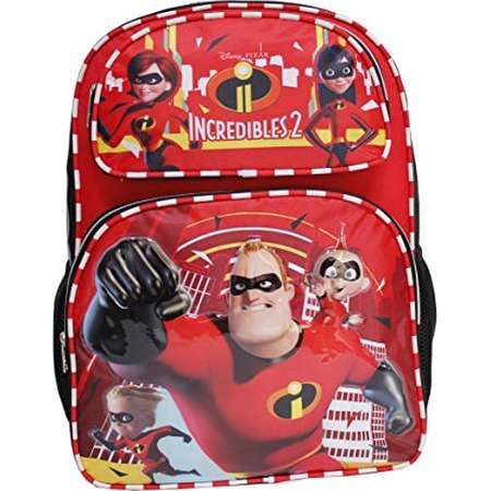 """Backpack - Disney - The Incredibles 2 - Family Team Red/Black 16"""" 136505 thumb"""