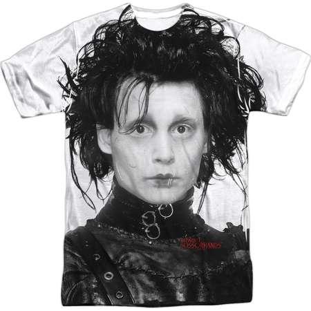 Edward Scissorhands Dark Romantic  Edward Portrait Adult Front Print T-Shirt thumb