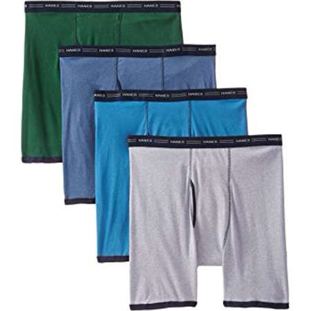 Hanes Red Label Men's 4-Pack No Ride Up Boxer Briefs thumb