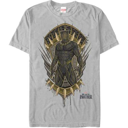 Marvel Men's Black Panther 2018 Claw Crest T-Shirt thumb