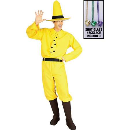 6bbba512b5 Man in the Yellow Hat Curious George Costume for Adults Party Kit thumb
